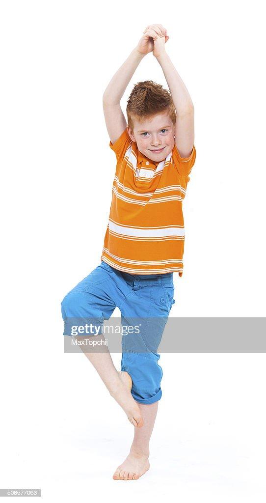 Niedliche Rote männlichen Jungen : Stock-Foto