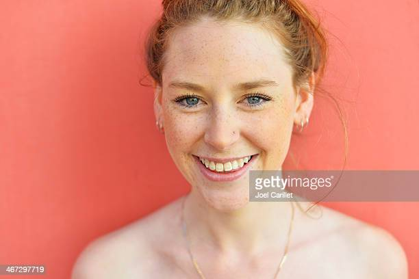 cute redhead with freckles - nose piercing stock pictures, royalty-free photos & images