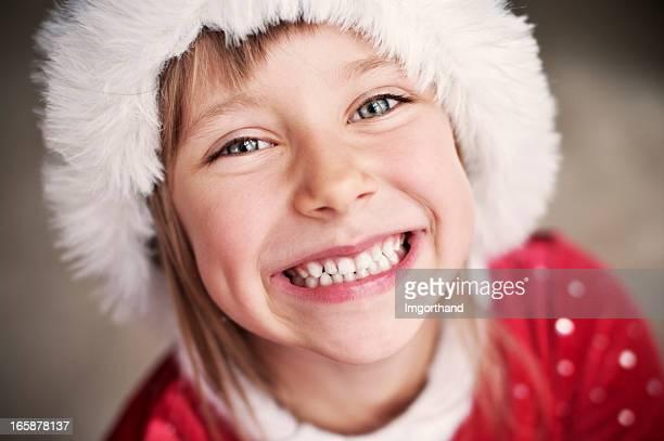 Cute santa helper with huge smile