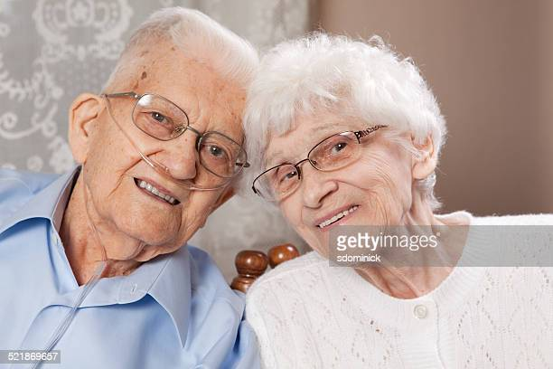 cute senior couple - copd stock photos and pictures