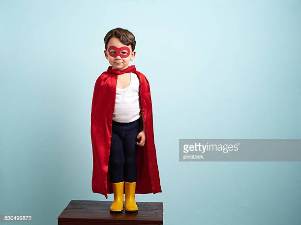 Cute superhero kid