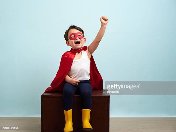 Cute superhero kid