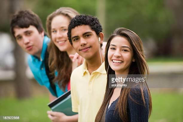 Süße Teenager Studenten