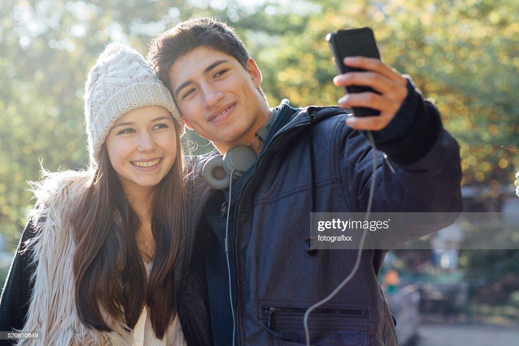 Skinny young teen couple