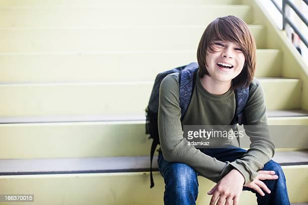 Cute Young School Boy