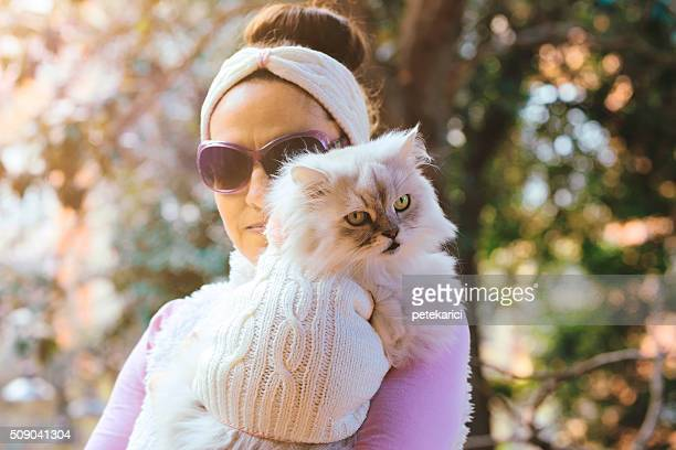 Cutest Best Friends Ever: Beautiful Woman and Her Cat