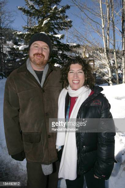 RJ Cutler and Lauren Greenfield during 2006 Sundance Film Festival 'Thin' Outdoor Portraits in Park City Utah United States