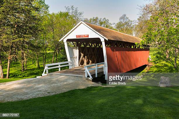 cutler-donahoe covered bridge - covered bridge stock pictures, royalty-free photos & images