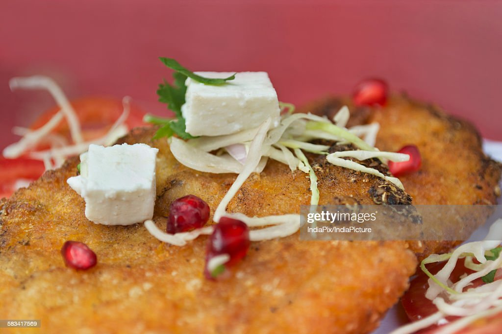 Cutlet served in a plate : Stock Photo