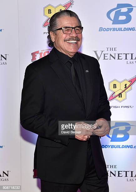 Cutman Jacob Stitch Duran arrives at the eighth annual Fighters Only World Mixed Martial Arts Awards at The Palazzo Las Vegas on February 5 2016 in...
