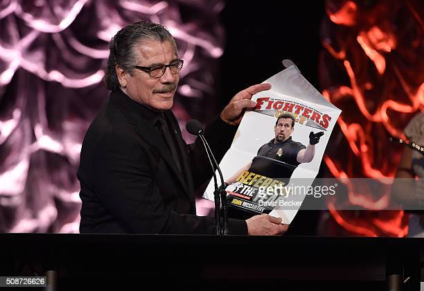 Cutman Jacob Stitch Duran present the Referee of the Year award at the eighth annual Fighters Only World Mixed Martial Arts Awards at The Venetian...