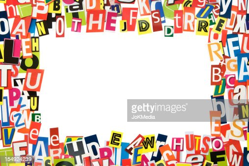Cutout Letters Frame Stock