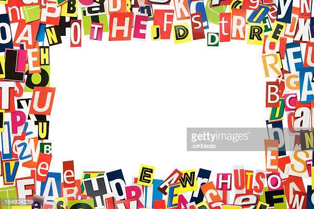 Ritaglio lettere Frame (percorso clip inclusa