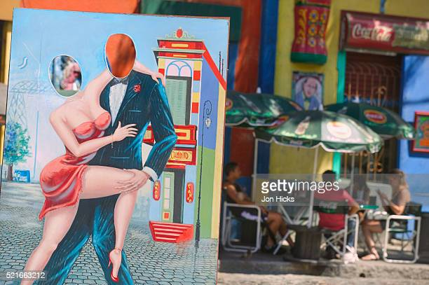 Cut-Out Tango Sign in La Boca