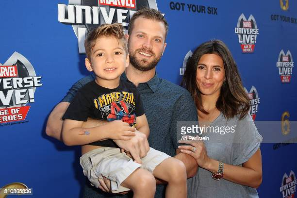 Cutter Dykstra Actress Jamie Lynn Sigler and son Beau arrive at Marvel Universe LIVE Age Of Heroes World Premiere Celebrity Red Carpet Event at...