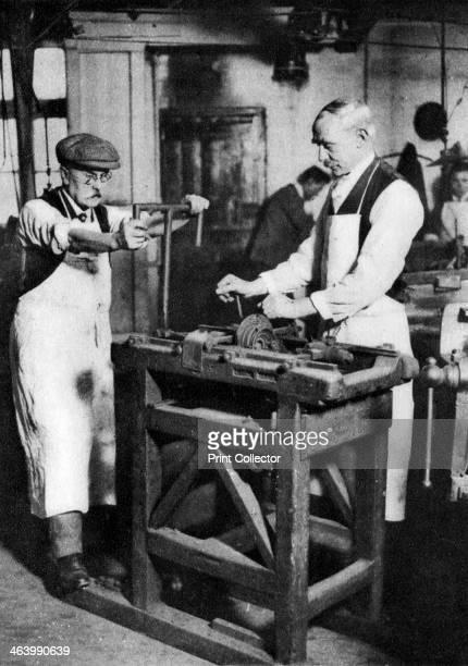 Cutting a key barrel London 19261927 From Wonderful London volume II edited by Arthur St John Adcock published by Amalgamated Press