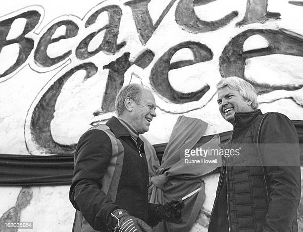 DEC 14 1980 DEC 15 1980 Cutting across political lines former president Gerald Ford left who frequently vacations in the Vail area and Colorado Gov...