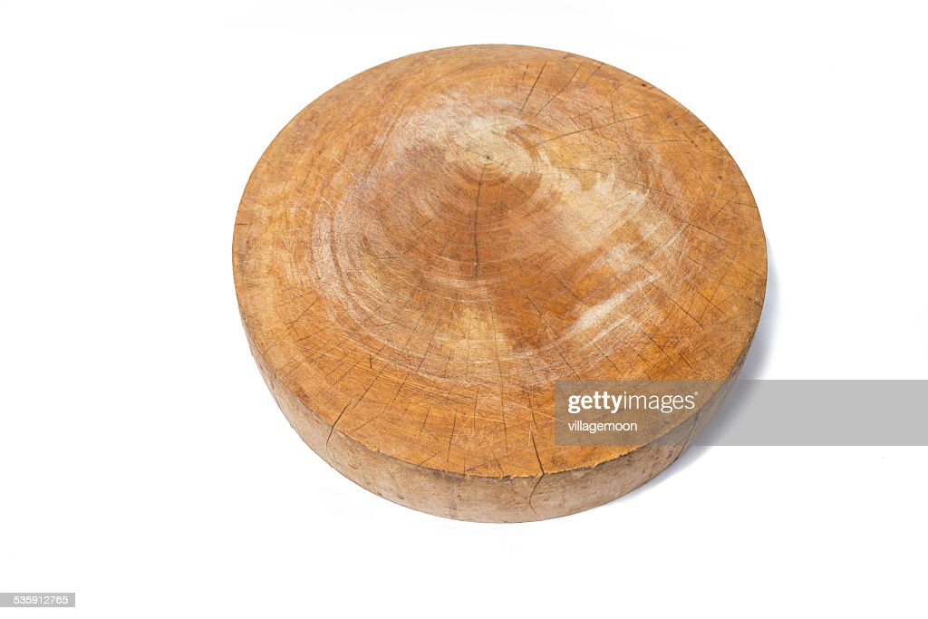 cutting board, chopping block on a white background : Stock Photo