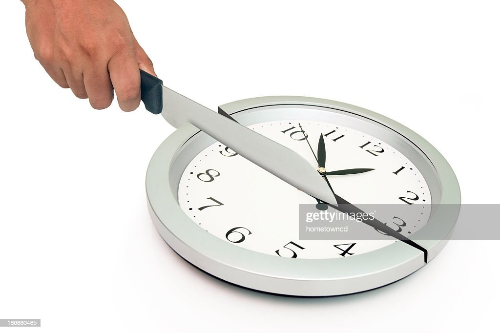 Cutting Clock : Stock Photo