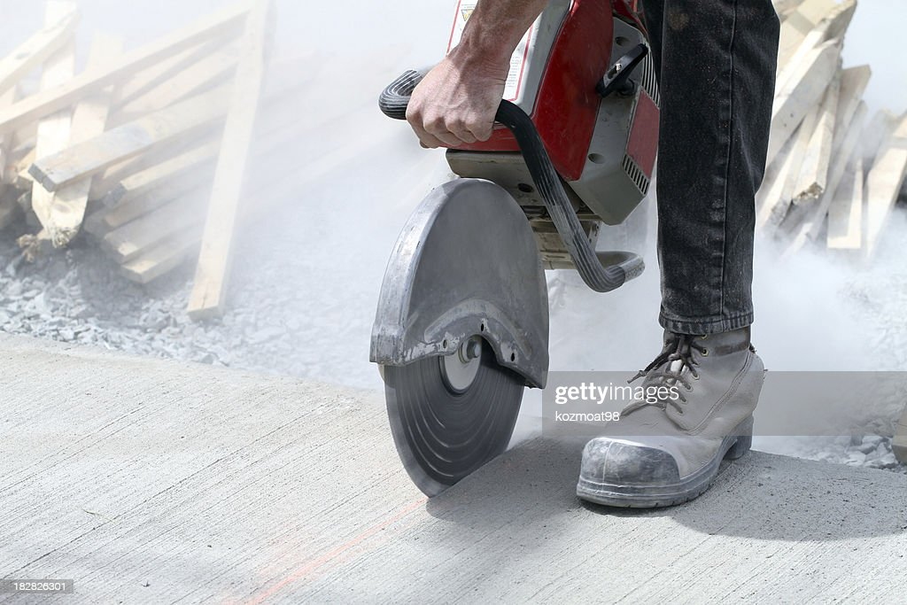 Cutting Concrete : Stock Photo