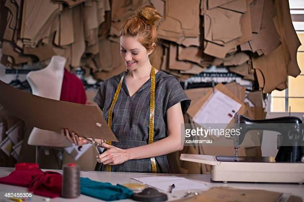 Cutting dressmaker patterns