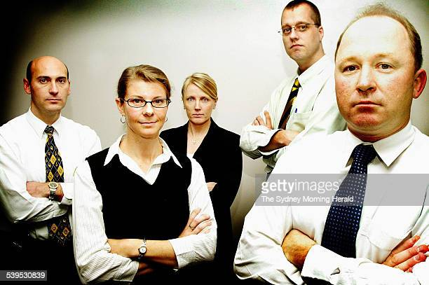 From left Detective Senior Constables Ashley Bryant Erica Nuttall Natalie Barr Jeroen Huisman and Mark McDonald 22 July 2004 SMH Picture by FIONALEE...