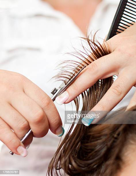 Cutting hair stock photos and pictures getty images cutting hair urmus Choice Image