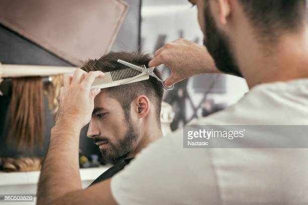Cutting hair