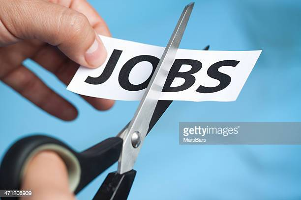 cutting jobs - downsizing unemployment stock pictures, royalty-free photos & images