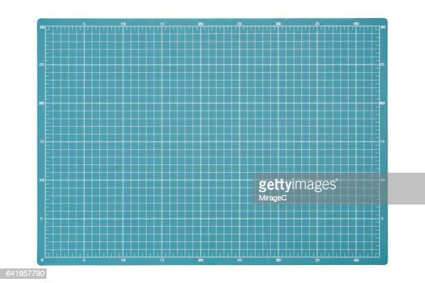 cutting mat on white background - grid pattern stock pictures, royalty-free photos & images