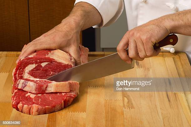 Cutting Meat into Steaks