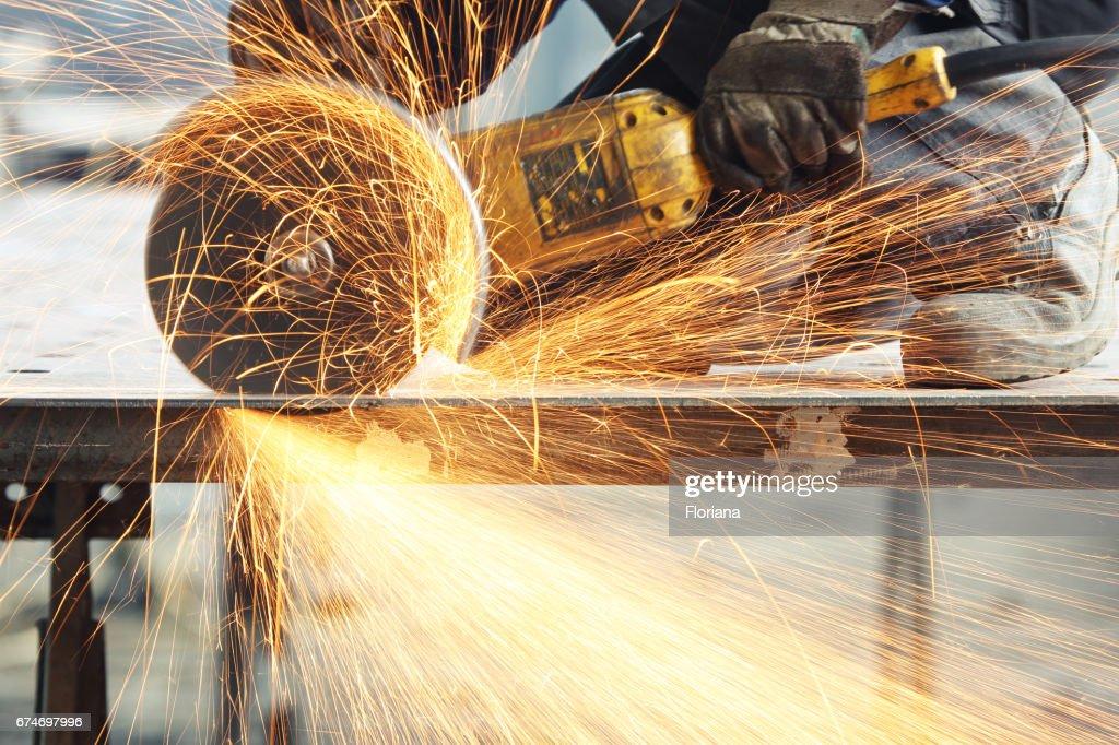 cutting metal : Stock Photo