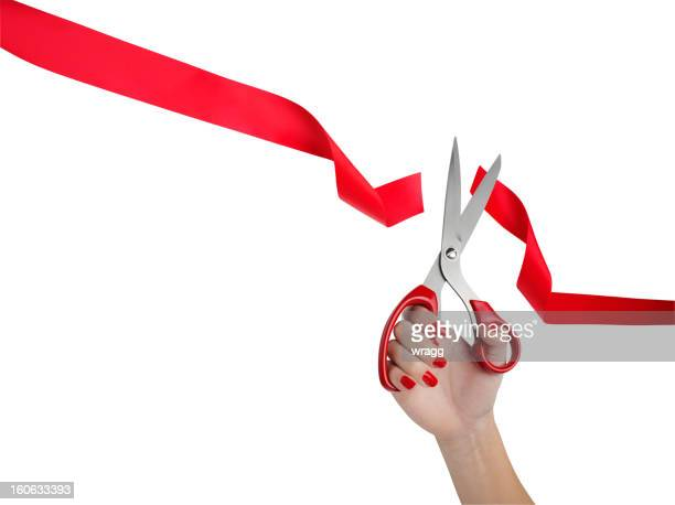 Cutting Red Ribbon ceremonia de apertura