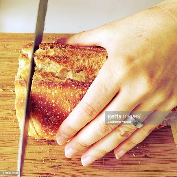 Cutting Sourdough
