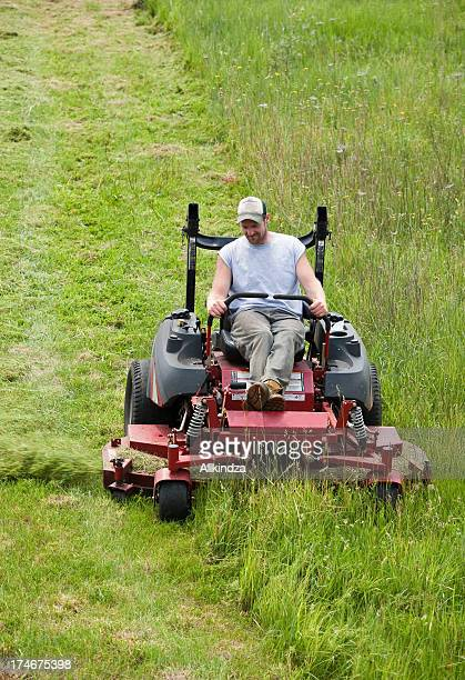 Cutting the long grass