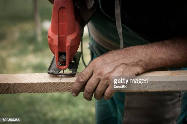 cutting wood - circular saw stock photos and pictures