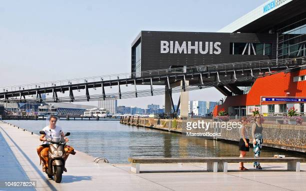 cutting-edge view of bimhuis music hall. - performing arts center stock pictures, royalty-free photos & images