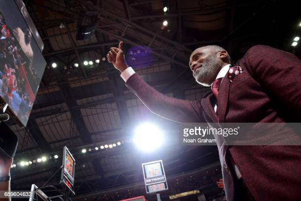 Cuttino Mobley attends the game between the Golden State Warriors and the Houston Rockets on March 28 2017 at the Toyota Center in Houston Texas NOTE...