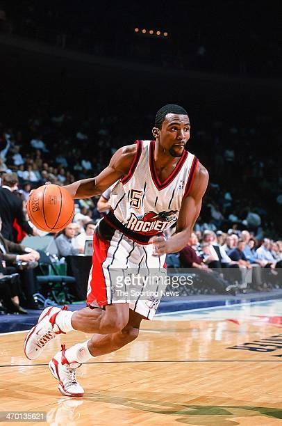 Cuttino Mobley of the Houston Rockets during the game against the San Antonio Spurs on November 5 1999 at Compaq Center in Houston Texas