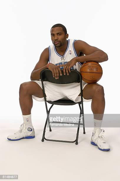 Cuttino Mobley of the Orlando Magic poses for a portrait during NBA Media Day on October 4 2003 in Orlando Florida NOTE TO USER User expressly...