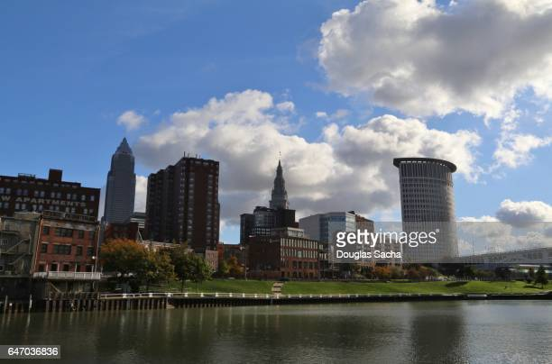 Cuyahoga River and the Cleveland skyline