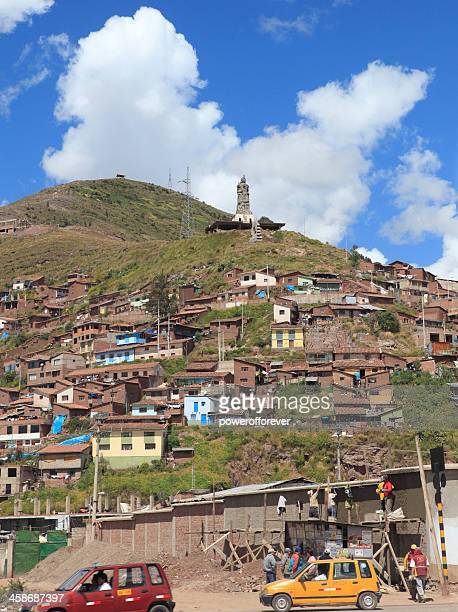 Cuzco Neighbourhood with Monumento Pachacuteq