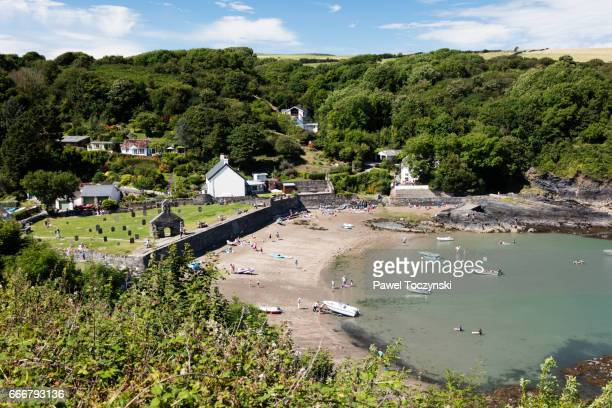 cwm yr eglwys village in the pembrokeshire coast national park, wales - newport wales stock pictures, royalty-free photos & images