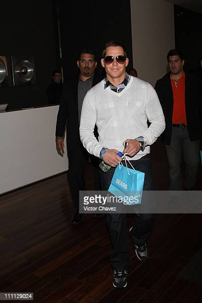 Cy Waits attends the launch of Paris Hilton The Shoe Collection at Hotel Distrito Capital on March 29 2011 in Mexico City Mexico