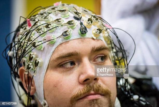 """cybathlon, the first """"cyborg olympics"""" in kloten, switzerland - bci stock pictures, royalty-free photos & images"""