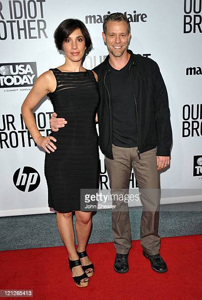 Cybele Chivian and Adam Pascal arrive at the premiere of Our Idiot Brother hosted by The Weinstein Company and Ron Burkle held at ArcLight Cinemas on...