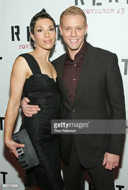 Cybele Pascal and acotor Adam Pascal arrives for the premier of the movie Rent at the Ziegfeld Theater on November 17 2005 in New York City