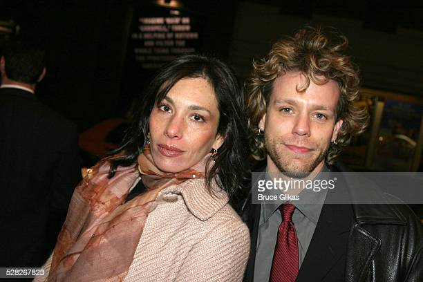 Cybele Pascal and husband Adam Pascal during Dirty Rotten Scoundrels Broadway Opening Night at The Imperial Theater in New York City New York United...