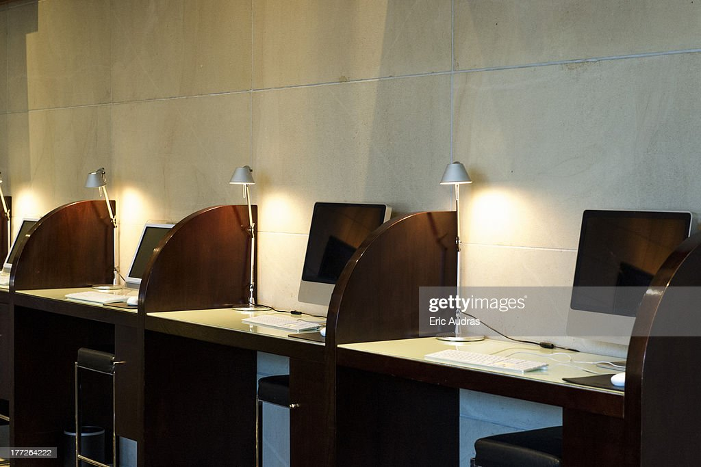 Internet Cafe Stock Photos and Pictures Getty Images