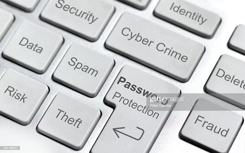 Cyber crime computer keyboard : Stock Photo
